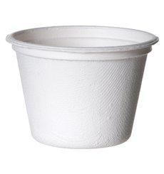 Soβenbecher aus Zuckerrohr Bagasse Weiß 120ml (50 Stück)