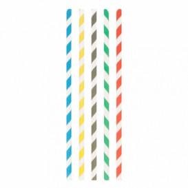 Trinkhalme aus Paper Kraft Eisgetränk Ø8mm 23,5cm (3000 Stück)