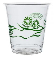"""Becher aus PLA """"Green Spirit"""" Transparent 250ml (50 Stück)"""