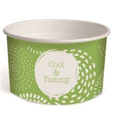 Pappbecher für Eis Cool&Yummy 3oz/100ml (65 Stück)