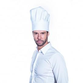 Kochmütze Le Chef Baumwolle weiß (25 Stück)