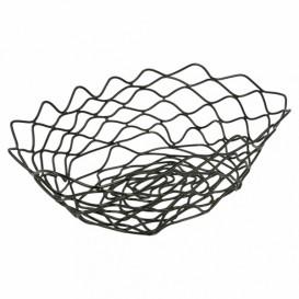 StahlKorb Oval Schwarz 240x152x70mm (6 Stück)