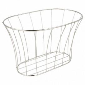 StahlKorb Oval Silber 210x127x127mm (1 Stück)