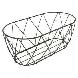StahlKorb Oval Schwarz 255x127x102mm (1 Stück)
