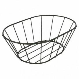 StahlKorb Oval Schwarz 216x140x76mm (24 Stück)