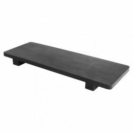 Bambusschale Schwarz 30x11x2,5cm (40 Stück)