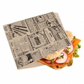 Burgerpapier fettdicht offen 2S Zeitung 16x16,5cm (5000 Stück)