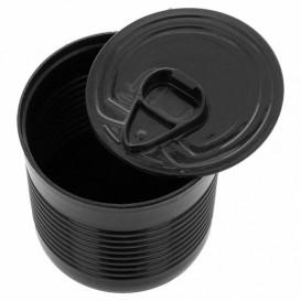 Konservendose Plastik Schwarz PS 60ml Ø5,1x4,8cm (25 Stück)