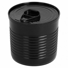 Konservendose Plastik Schwarz PS 110ml Ø6x5,7cm (25 Stück)
