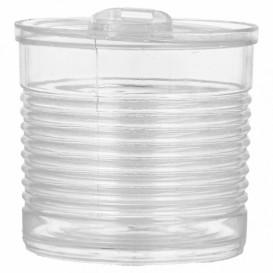 Konservendose Plastik Trans. PS 220ml Ø7,4x7cm (100 Stück)