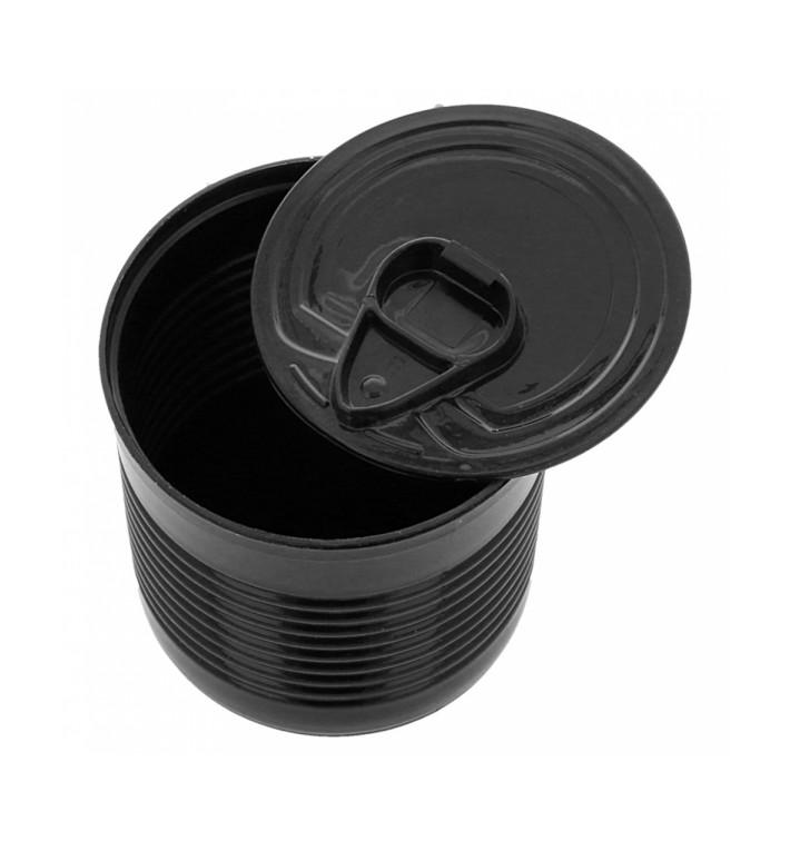 Konservendose Plastik Schwarz PS 220ml Ø7,4x7cm (100 Stück)