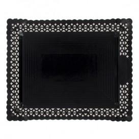 Papptablett Spitze Schwarz 18x25 cm (100 Stück)