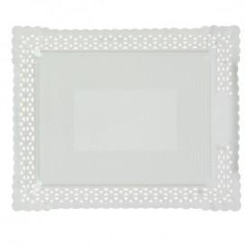Papptablett Spitze weiß 18x25 cm (100 Stück)