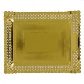 Papptablett Spitze Golden 27x32 cm (100 Stück)