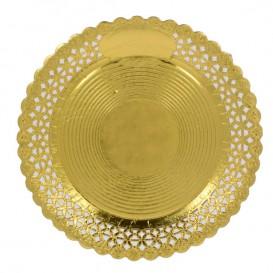Pappteller Rund Spitze Golden 28 cm (100 Stück)