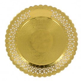 Pappteller Rund Spitze Golden 20 cm (100 Stück)
