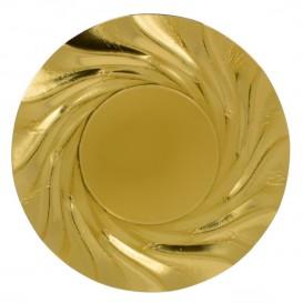 Pappteller Rund Golden Acuario 350 mm (100 Stück)