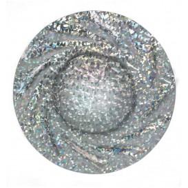 Pappteller Rund Silber Gaudi Acuario 350 mm (100 Stück)