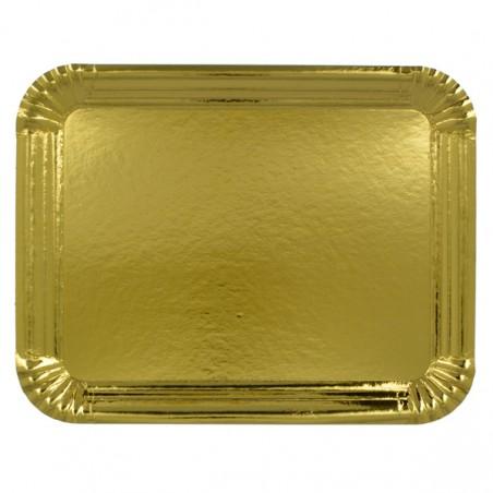 Pappschale rechteckig gold 22x28cm (600 Stück)