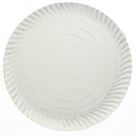 Pappteller Rund weiß 140 mm (100 Stück)