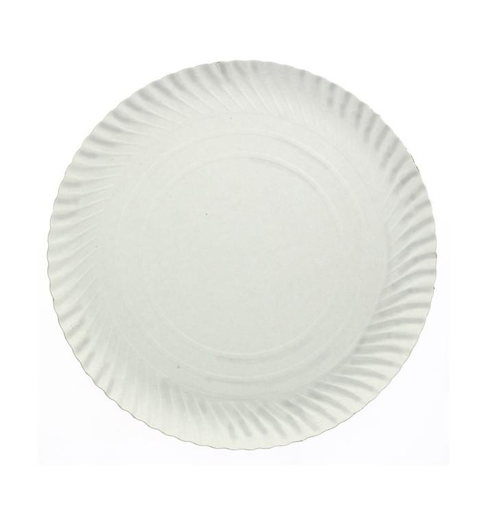 Pappteller Rund weiß 230 mm (100 Stück)