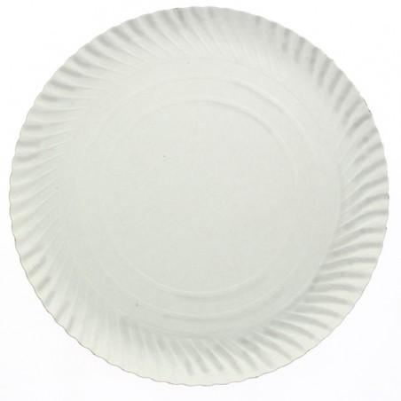 Pappteller Rund weiß 380mm (50 Stück)