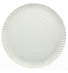 Pappteller Rund weiß 120 mm (100 Stück)