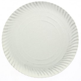 Pappteller Rund weiß 410 mm (150 Stück)