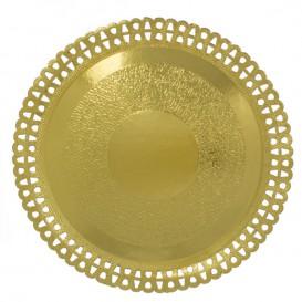 Pappteller Rund Spitze Golden 330 mm (50 Stück)