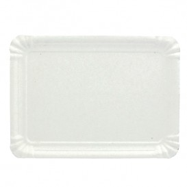 Pappschale rechteckig weiß 16x22 cm (100 Stück)