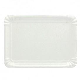Pappschale rechteckig weiß 24x30 cm (100 Stück)