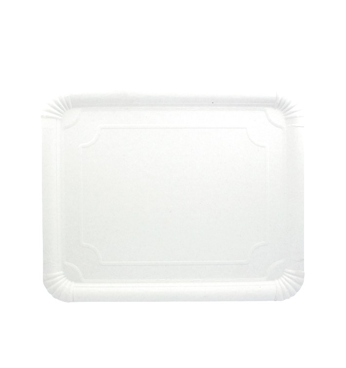 Pappschale rechteckig weiß 31x38cm (200 Stück)