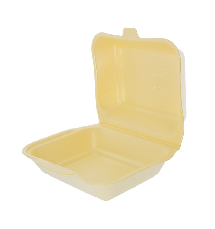 Verpackung Lunchbox Styropor Champagner 185x155x70mm (125 Stück)