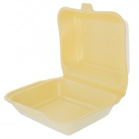 Verpackung Lunchbox Styropor Champagner 185x155x70mm