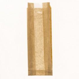 """Papiertüten Kraft Fenster """"Espigas"""" 10+4x29cm (125 Stück)"""