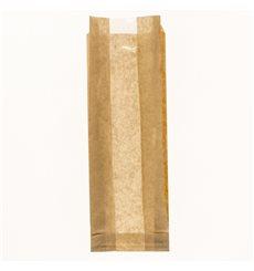 Papiertüten Kraft Fenster 10+4x29cm (125 Stück)