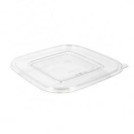 Deckel Flach für Schale aus Plastik PET 175x175mm (50 Stück)