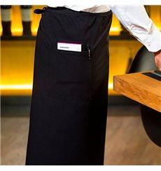 Schürze Fransösisch mit 2 Tasche Schwarz 90x110cm  (1 Stück)