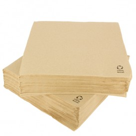 Papierservietten Kraft 2L rau 33x33cm (50 Stück)