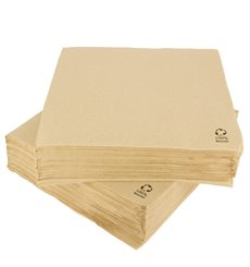 Papierservietten Kraft 2L rau 33x33cm (1350 Stück)