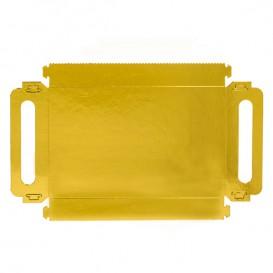Papptablett Rechteckig Gold Griffen 32x7,5 cm (100 Stück)