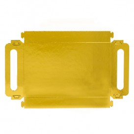 Papptablett Rechteckig Gold Griffen 30x12 cm (100 Stück)