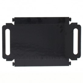 Papptablett Rechteckig Schwarz Griffen 28,5x38,5 cm (100 Stück)