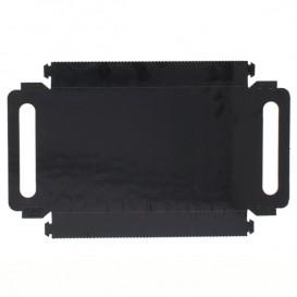 Papptablett Rechteckig Schwarz Griffen 28,5x38,5 cm (200 Stück)