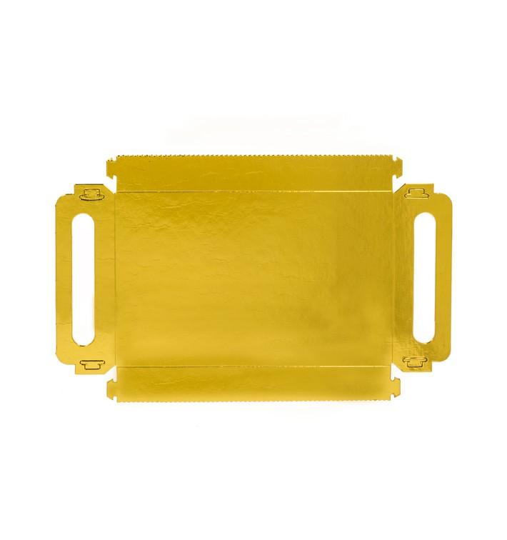 Papptablett Rechteckig Gold Griffen 16x23 cm (25 Stück)