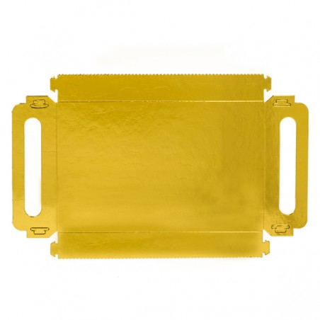 Papptablett Rechteckig Gold Griffen 22x28 cm (25 Stück)