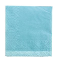 Papierservietten Hellblau 2L 20x20cm (100 Stück)