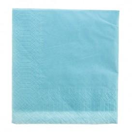 Papierservietten Hellblau 2L 20x20cm (6000 Stück)
