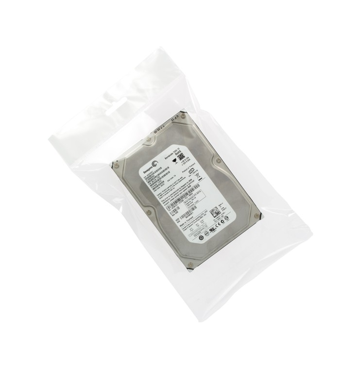 Flachbeutel BOPP Falte Klebstoff mit Euro-Loch 8,5x14cm G160 (1000 Stück)