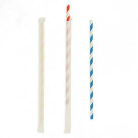 Trinkhalme Flexibel Einzeln Verpackt Flexibel Ø6mm 23cm (6000 Stück)
